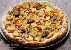 Pizza de post perfecta pentru o zi de post. Vegetable Pizza, Dinners, Vegan, Vegetables, Food, Pie, Dinner Parties, Food Dinners, Essen