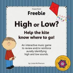 Working on High and Low with your younger elementary music students? They will love this interactive game which will reinforce the concept and you will love that it is free!