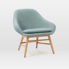 Mylo Chair   west elm   in Eucalyptus heather, heathered navy, heathered burnt orange and grey heather   $399