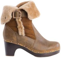 Inverleigh Ladies Leather & Sheepskin Boot-Choc