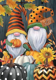 Halloween Canvas Paintings, Fall Canvas Painting, Halloween Painting, Autumn Painting, Autumn Art, Diy Painting, Halloween Crafts, Toile D'halloween, Gnome Paint