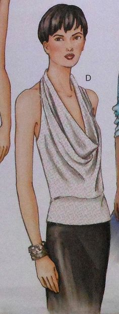 Drape Front Halter Top Sewing Pattern