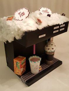 surprise en doosjes Surprise thee koffiemachineSurprise thee koffiemachine Valentine Boxes For School, Valentines Diy, Make Up Doos, Unicorn Surprise, Diy Valentine's Box, Homemade Christmas Crafts, Cadeau Surprise, Cardboard Art, Tea Coffee Machine