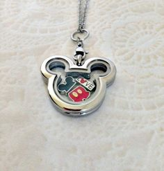 Living locket stainless steel Mickey Inspired locket with charms