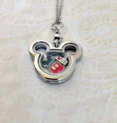 Living locket stainless steel Mickey by PrettyLittleLockets