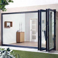 Folding Patio Doors, Patio Windows, Aluminium Windows And Doors, Bifold Glass Doors, Sliding Door Design, External Doors, Door Sets, Villa, Decoration