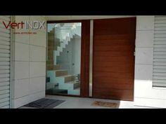 Puerta acorazada pivotante de eje vertical con fijo lateral. - YouTube
