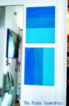 DIY Tutorial: DIY Ombre / DIY Ombre Canvas Wall Art - Bead&Cord
