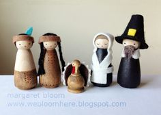 we bloom here: peg doll pilgrims & native americans :: tutorial
