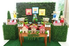 Mesa dos 3 porquinhos #mesa3porquinhos #festa3porquinhos #decoracao3porquinhos #3porquinhos #tresporquinhos