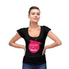 T-shirt dla niej: Dziewczyna jak malina #koszulka #tshirt #malina #znadrukiem