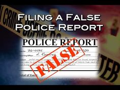 """The crime of """"filing a false police report"""" in Nevada."""