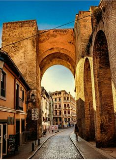 Puerta de Elvira Granada, Bristol, Secret Places, Andalusia, Brooklyn Bridge, Places Ive Been, Spain, Travel, Arch