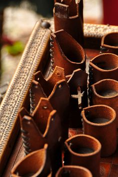 Leather chess pieces by sklender, via Flickr
