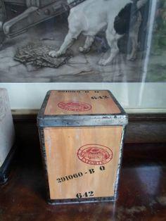 Silver Crane Company Wooden Chest Tin | eBay
