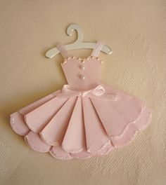 dress topper for card. Really cute.