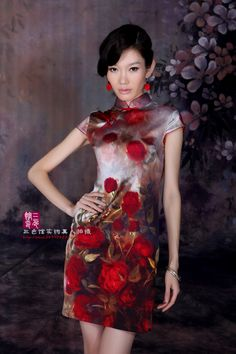 Cheongsam / Qipao, Chinese Traditional Dress. Nice model