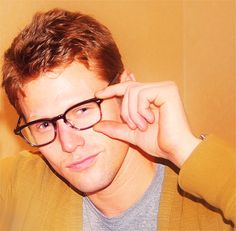 kinda cute in glasses. too bad his character on the vampire diaries doesn't wear them.