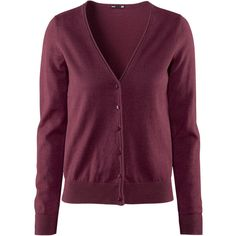 H&M Cardigan £9.99 (200 EGP) ❤ liked on Polyvore featuring tops, cardigans, h&m, sweaters, burgundy, purple cardigan, h&m cardigan, v neck cardigan, purple v neck cardigan and cardigan top