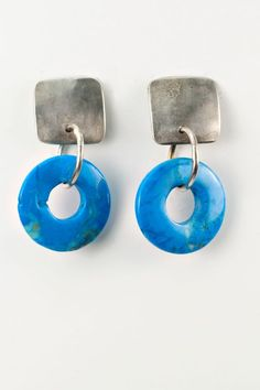 Holly Masterson Blue Agate Earrings » Jewelry » Santa Fe Dry Goods | Clothing and accessories from designers including Issey Miyake, Rundholz, Yoshi Yoshi, Annette Görtz and Dries Van Noten