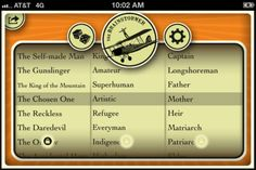 Brainstormer ($1.99) - The Classic Brainstormer is a bit of kindling for creative minds. A tactile tool to randomly combine a plot, a subject and a setting or style, the Brainstormer can provide that elusive moment of inspiration for writers, painters, or any kind of creative endeavor. It's a great way to combat creative block, to spark new ideas for a new project or to summon up quick subjects for doodling, sketching or journaling.