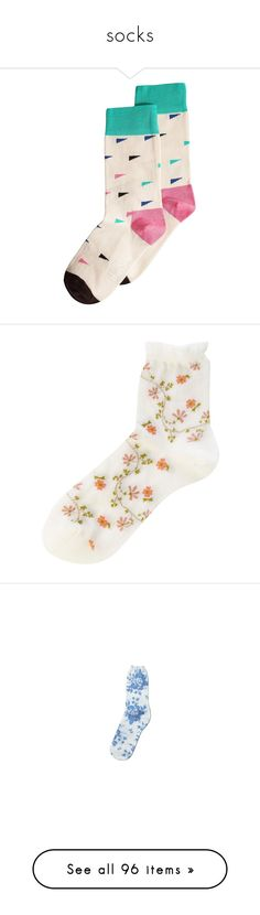 """""""socks"""" by shelbyo3o ❤ liked on Polyvore featuring intimates, hosiery, socks, accessories, socks and tights, underwear, white, womens-fashion, cotton socks and white hosiery"""
