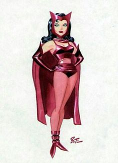 "Scarlett Witch ""Avengers"" by Bruce Timm."