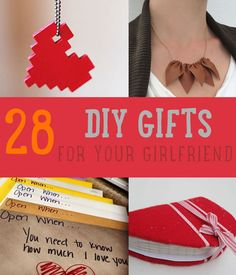 28 DIY Gifts For Your Girlfriend | Christmas Gifts for Girlfriend