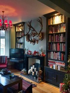 Black Alcove Shelves & Cupboard 2 – Home decoration ideas and garde ideas My Living Room, Home And Living, Living Room Decor, Living Spaces, Alcove Shelving, Shelving Design, Wall Shelves, Alcove Bookshelves, Alcove Storage