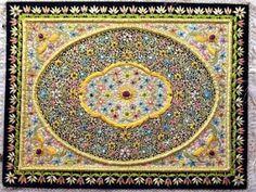Decorative Royal Kashmiri Jewel Carpet Wall Decor Art Home Kitchen