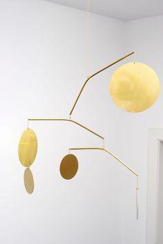 Brass mobile by Corinne van Havre