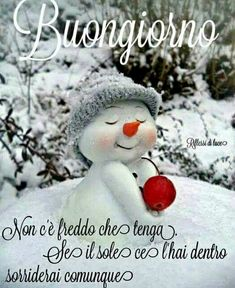 Dedicato a chi sta lavorando al freddo! Winter Christmas, Christmas Ornaments, Good Morning My Friend, Italian Memes, Good Morning Greetings, Have A Blessed Day, Happy Day, Snowman, Humor