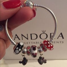 Pandora Mickey Minnie Disney Child Bracelet Set  Authentic Pandora Disney Child…