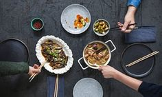 Red-braised pork, Fish-fragrant aubergines Chinese, feasting