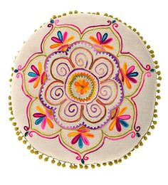 Embroider a mandala -- what a beautiful idea.