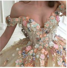 Ball Gowns Evening, Ball Gowns Prom, Ball Gown Dresses, Prom Ballgown, Tulle Ball Gown, Lace Evening Dresses, Floral Prom Dresses, Quince Dresses, Pretty Dresses