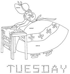 Tuesday Sunbonnet Days of the Week from love to sew