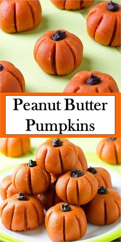 The Good Favorite >> Peanut Butter Pumpkins - webdeliziouso Pumpkin Recipes, Fall Recipes, Sweet Recipes, Holiday Recipes, Seasonal Recipe, Yummy Recipes, Vegan Recipes, Yummy Food, Peanut Recipes