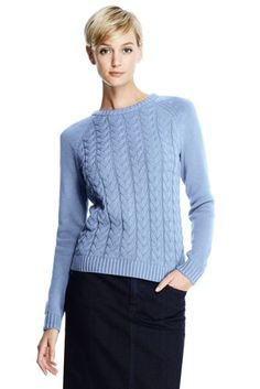Women's Drifter Cable Sweater from Lands' End