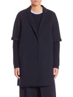 MAX MARA Leva Short-Sleeve Wool Coat. #maxmara #cloth #coat