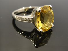 405 ct Yellow Heliodor Beryl Ring by MSJewelers on Etsy, $1415.00