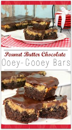 These Peanut Butter Chocolate Ooey Gooey Bars are so delicious, your family is going to ask for this recipe over and over again! Any dessert recipe with peanut butter and chocolate is a hit with my family! Can you imagine these warm with ice cream? It's the perfect after dinner dessert or after school treat!!