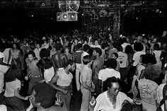"""Paradise Garage, 1979 """"Paradise Garage–goers danced until the early morning to the sounds of DJ Larry Levan. With its state-of-the-art sound system, you could feel the music throughout your entire body. It was like no other club. Dancing here was like going to a really good workout session at the gym. There were no posers, and only fruit and water was served."""""""