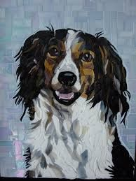 Image result for collie mosaic pictures