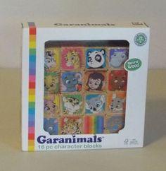 Garanimals-16-Piece-Natural-Wood-Character-Blocks-New-Factory-Sealed