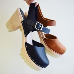 NEW Highwood clogs with a chunky tractor sole in black or brown oiled nubuck! #lovemylottas now online!
