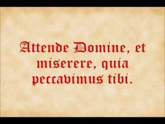 Attende Domine - YouTube