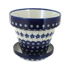 Polish Pottery Flowering Peacock Small Flower Pot >>> Click affiliate link Amazon.com on image to review more details.