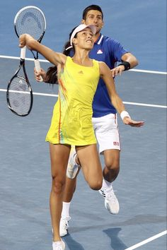 Ana Ivanovic and Novak Djokovic