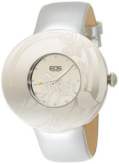 EOS New York Women's 53SSIL Jasmine Silver Leather Strap Watch EOS. $105.00. Genuine leather strap. Precise Japanese quartz movement. Analog display. Durable mineral crystal. One year limited international warranty